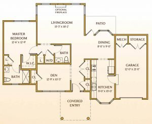 Floor Plan of Kensington