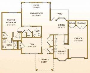 Floor Plan of Kensington