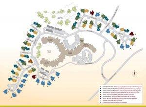 Floor Plan of Patio Homes Map