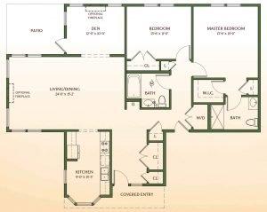 Floor Plan of Oxford