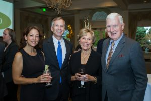 Kelly Cooper; Glen Cooper, President & CEO of Friendly Senior Living; Geraldine Biddle Moore, Chairperson of the Friendly Home's Board of Directors, and James Moore.
